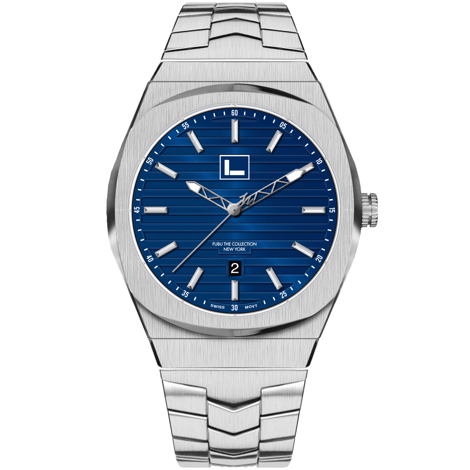 Empire State Odell - FUBU Watch Swiss Made Movement, Sapphire Crystal, Quick Release System, 10ATM water resistance. 24 Month Warranty. Lifestyle Affordable Timepieces
