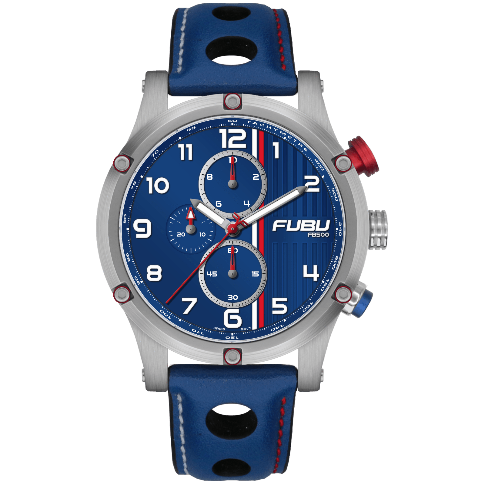 FB500 #92 - FUBU Watch Swiss Made Movement, Sapphire Crystal, Quick Release System, 10ATM water resistance. 24 Month Warranty. Lifestyle Affordable Timepieces