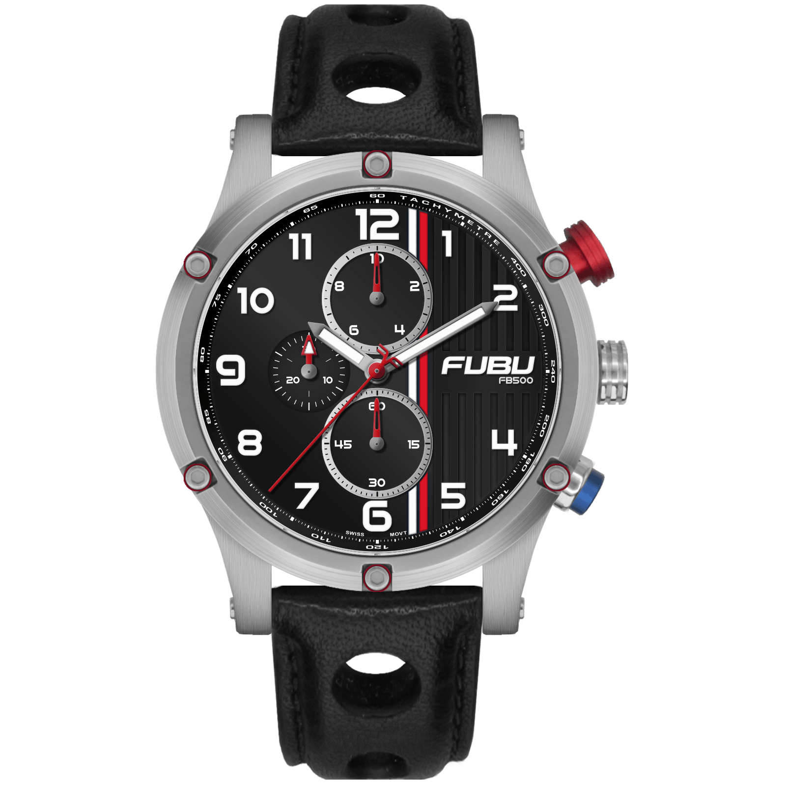 FB500 #05 - FUBU Watch Swiss Made Movement, Sapphire Crystal, Quick Release System, 10ATM water resistance. 24 Month Warranty. Lifestyle Affordable Timepieces