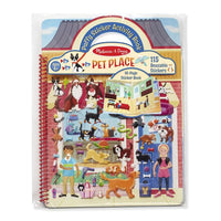 Melissa & Doug Spiral-bound Puffy Sticker Activity Book