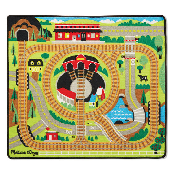 Melissa & Doug Round the Rails Train Activity Rug