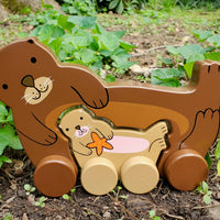 *NEW* Jack Rabbit Designs Big & Little Sea Otter Push Toy