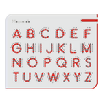 *NEW* Kid O Magnatab A to Z Uppercase