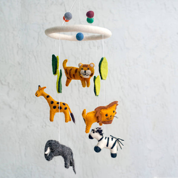 *NEW* The Winding Road Felt Mobile - Jungle Animals