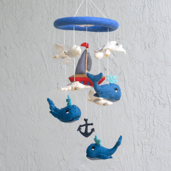 *NEW* The Winding Road Felt Mobile - Whale & Sailboat