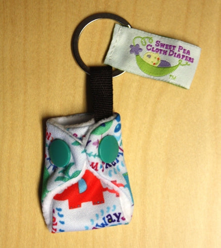 Sweet Pea Cloth Diaper Key Chain