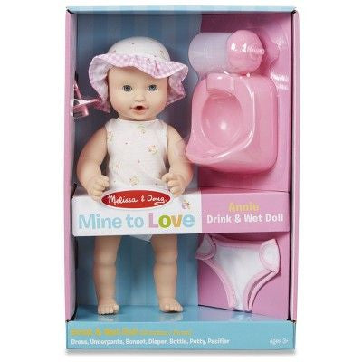 Melissa & Doug Annie Drink & Wet Doll
