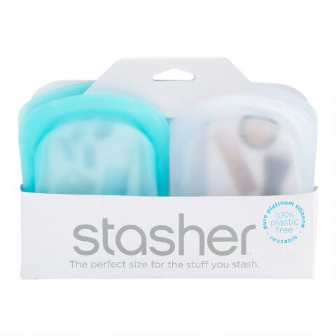 Stasher Pocket Bag 2-pack