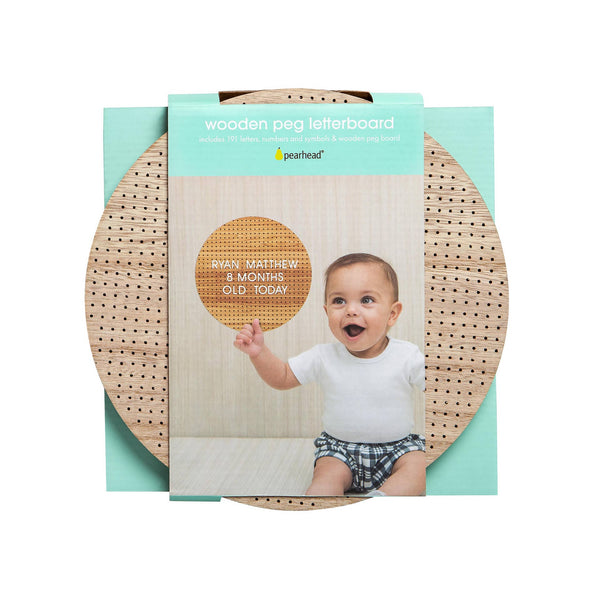 *NEW* Pearhead Wooden Circle Peg Letterboard