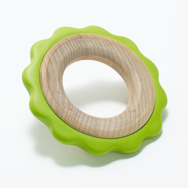 BeginAgain Green Ring Teether