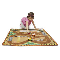 Melissa & Doug Round the Construction Zone Worksite Activity Rug
