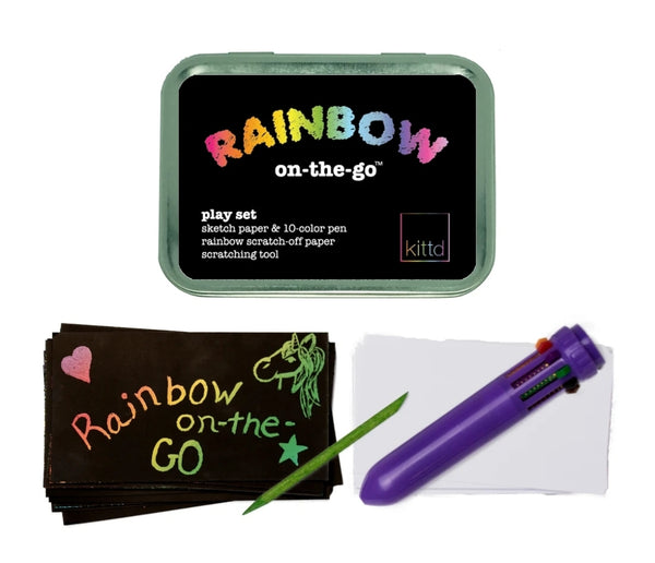 Kittd Rainbow On-the-Go Travel Drawing Playset
