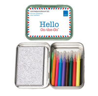 Kittd Hello On-The-Go Travel Toy Postcard Play Set