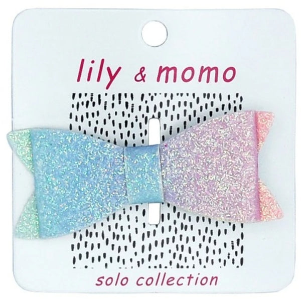 Lily & Momo Glitter Bow Hair Clips - Single