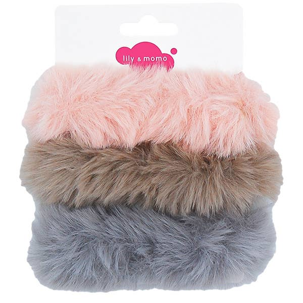 *NEW* Lily & Momo Furry Scrunchie Trio
