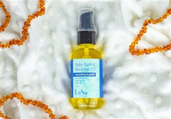 LüSa Organics Baby Bath and Massage Oil (Unscented)
