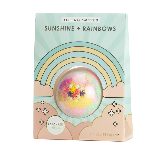 *NEW* Feeling Smitten Sunshine + Rainbows Surprise Keychain Bath Bomb