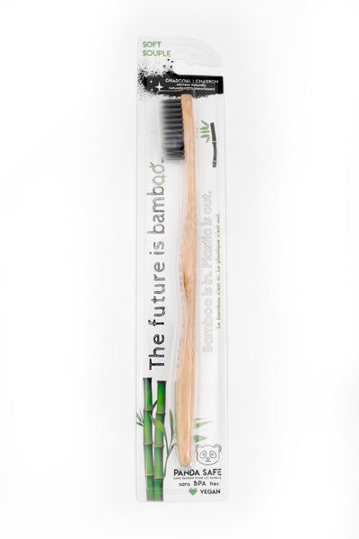 Charcoal Bamboo Toothbrush - Single - The Future is Bamboo