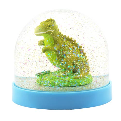 *NEW* Pink Poppy Dinosaur Snow Globe