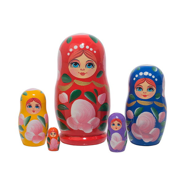 *NEW* Golden Cockerel 5-Piece Russian Nesting Dolls