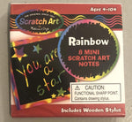 Melissa & Doug Scratch Art Rainbow Mini Notes- 8 pk