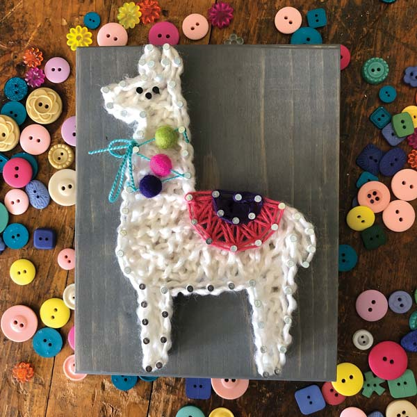 *NEW* Strung by Shawna DIY String Art Kit - Llama