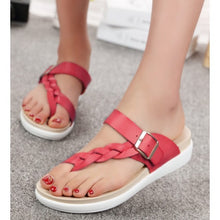 Load image into Gallery viewer, VIATU GENUINE LEATHER INOVATION SLIDE WOMEN SANDALS