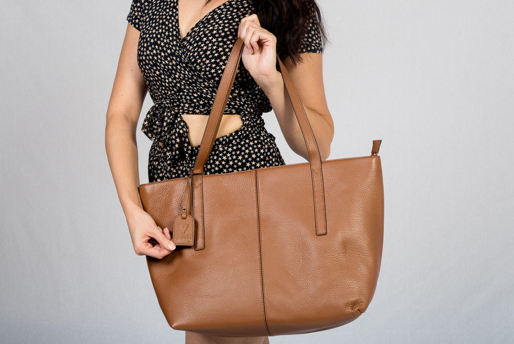 VIATU Large Leather Handbag