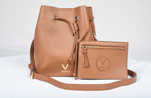 VIATU Bucket Shoulder Bag