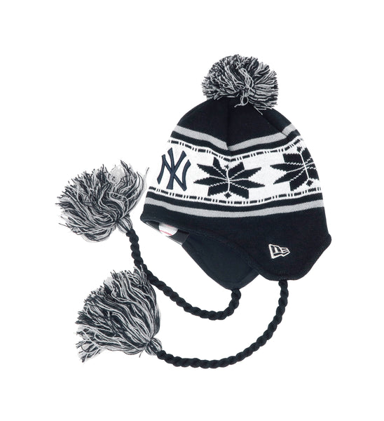 New Era MLB New York Yankees Navy/White Beanie