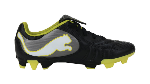 Puma Power Cat Black/Fluo Yellow Kids Soccer Cleats