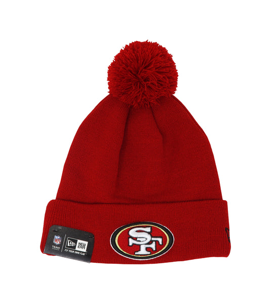 New Era San Francisco 49ers Pomz Red/Red Unisex One Size Beanie