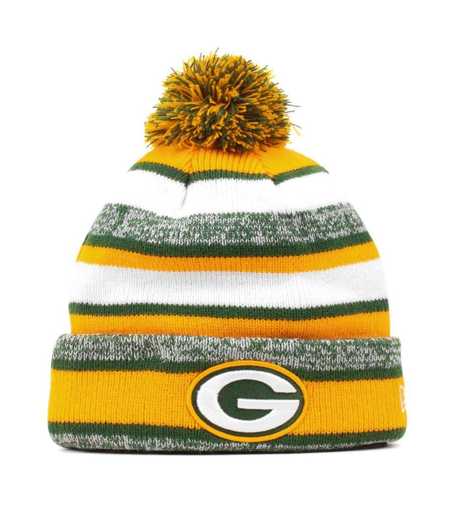 New Era Green Bay Packers Green/White Unisex One Size Beanie