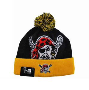 New Era Pittsburgh Pirates Black/Gold Unisex One Size Beanie
