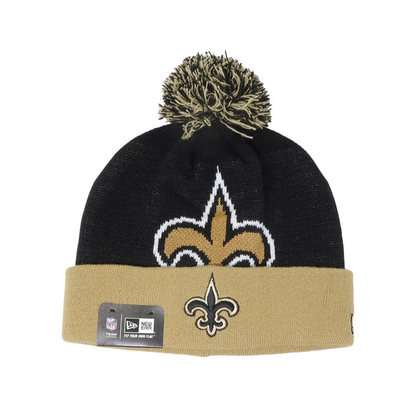 New Era New Orleans Saints Black/Gold Unisex One Size Beanie