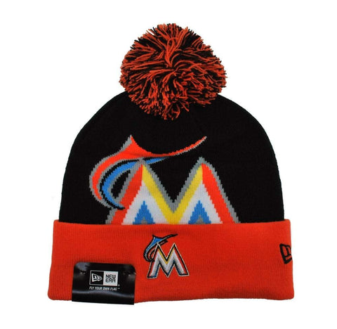 New Era Miami Marlins Men Beanie Black/Orange One Size
