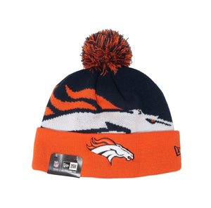 New Era Denver Broncos Navy/Orange Unisex One Size Beanie