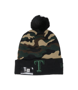 New Era Texas Rangers Black Camo Unisex One Size Beanie
