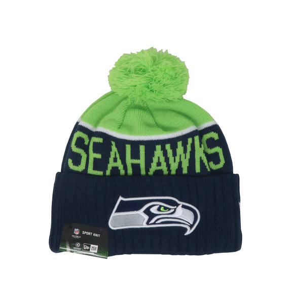 New Era Seattle Seahawks Navy/Green Men Beanie One Size
