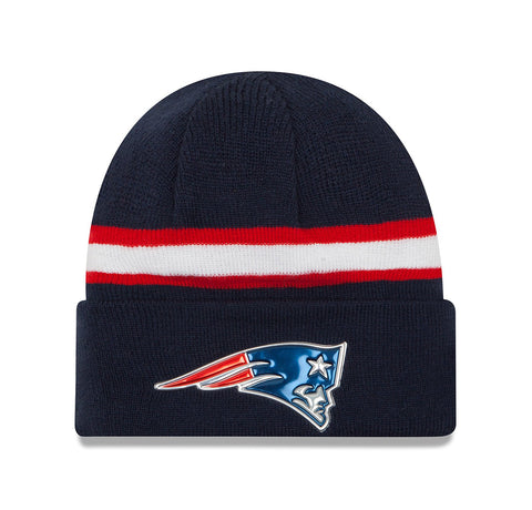 New Era New England Patriots Navy/Red Unisex Beanie One Size