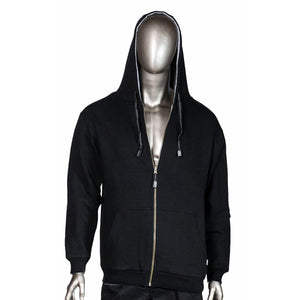 Pro Club Thermal Full Zip Reversible Black/Grey Men's Hoodie