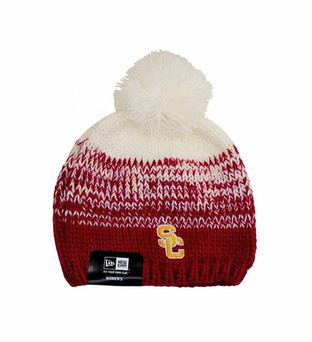 New Era USC Cardinals White/Gold Women's Beanie One Size
