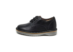 Florsheim Navigator Dress Casual Plain Toe Oxford Black Charcoal Little Kids Shoes