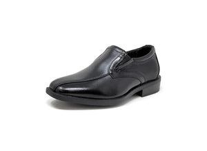 Florsheim Postino Bike Toe Slip, Jr. Black Little Kids Slip-On Shoes