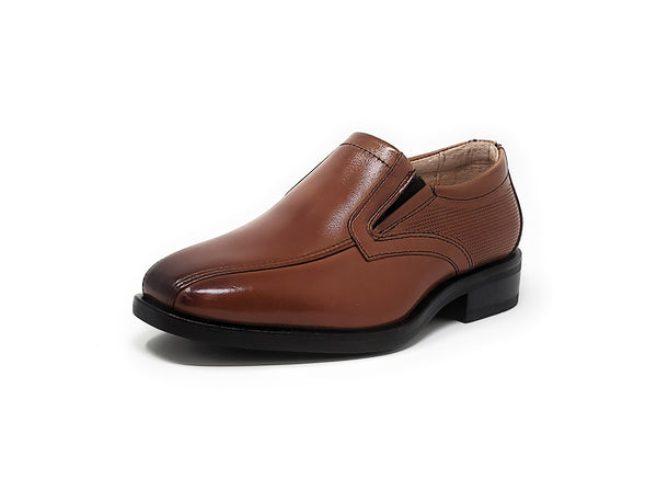 Florsheim Postino Bike Toe Slip, Jr. Cognac Little Kids/Big Kids Slip-On Shoes