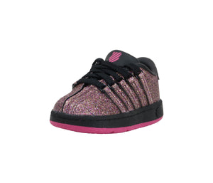 K-Swiss Classic VN Black/Sparkle Infant Shoes