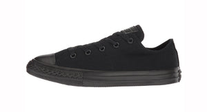 Converse All Star Black Mono Low Top Kids Shoes