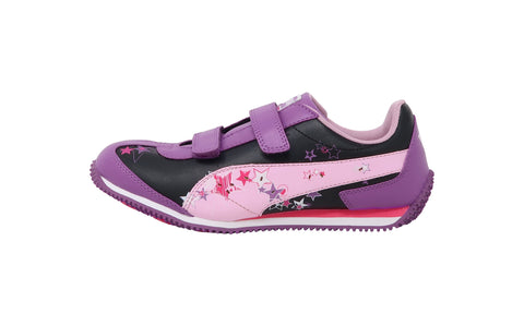 Puma Speeder Light Up Dewberry/Pink Kids Shoes
