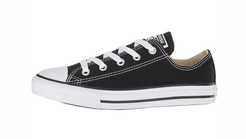 Converse All Star Black Low Top Kids Shoes