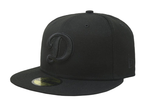 "New Era Black 59Fifty Dodgers ""D"" BOB Men Cap"